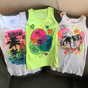 Justice Tank Tops Set of 3